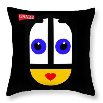 uBABE Black Throw Pillow