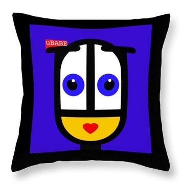 Ubabe Blue Throw Pillow