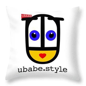 Ubabe De Stijl Throw Pillow