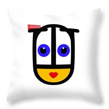 uBABE Logo Throw Pillow