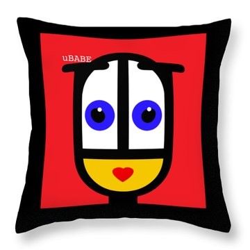 Ubabe Red Throw Pillow