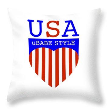 Ubabe Style America Throw Pillow