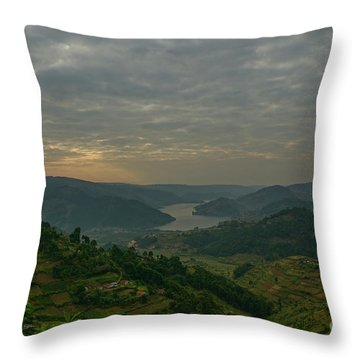 Uganda Countryside Throw Pillow