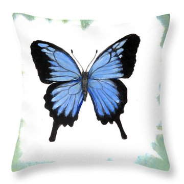 Ulysses Blue Throw Pillow
