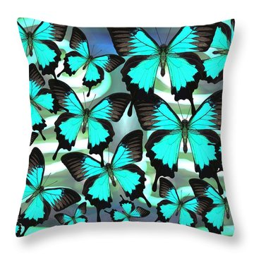 Ulysses Multi Blue 2 Throw Pillow