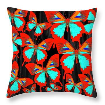 Ulysses Multi Red Throw Pillow