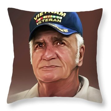 Uncle Poppy By Spano Throw Pillow