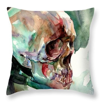 Unconfirmed Skull Throw Pillow