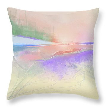 Throw Pillow featuring the digital art Unconventional by Gina Harrison