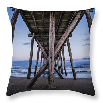 Under The Pier Throw Pillow