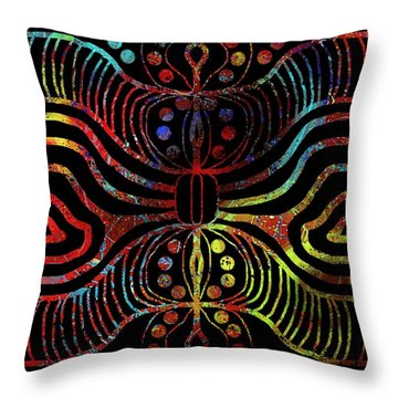 Under The Sea Digital Patterns Of Life Throw Pillow