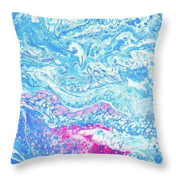 Under The Sea In Hawaii Throw Pillow