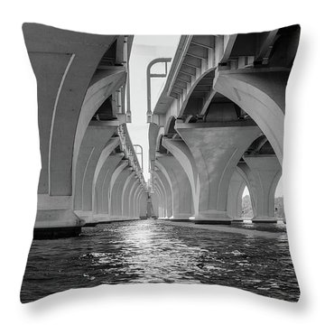 Under The Woodrow Wilson Bridge Throw Pillow
