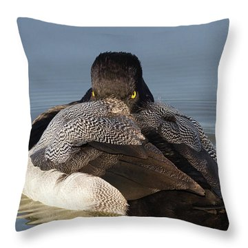 Undercover Stare Throw Pillow