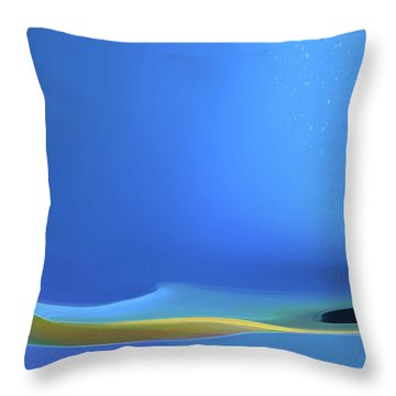 Throw Pillow featuring the digital art Undercurrents by Gina Harrison