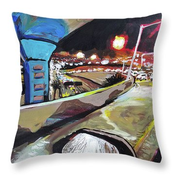 Underpass At Nighht Throw Pillow