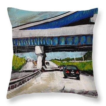 Underpass Z Throw Pillow