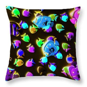 Underwater Glow Throw Pillow