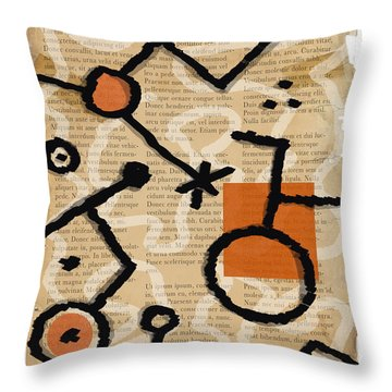 Throw Pillow featuring the photograph Unicycle by Mark Shoolery