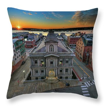 Throw Pillow featuring the photograph United States Custom House by Rick Berk