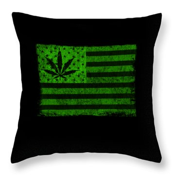 United States Of Cannabis Throw Pillow