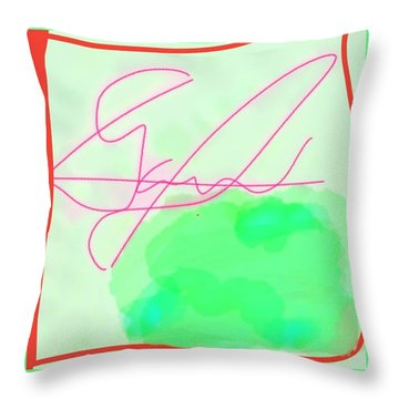 Unknown Signature Throw Pillow