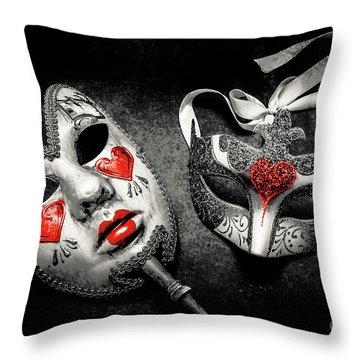 Unmasking Passions Throw Pillow