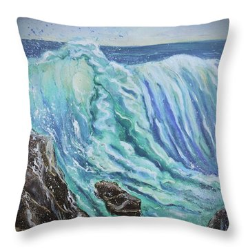 Unstoppable Force Throw Pillow