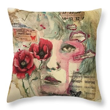 Untamable Throw Pillow