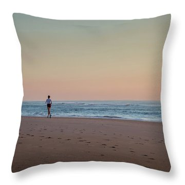 Up And Running Throw Pillow