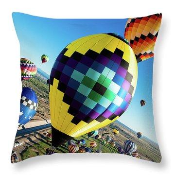 Up, Up, And Away Throw Pillow
