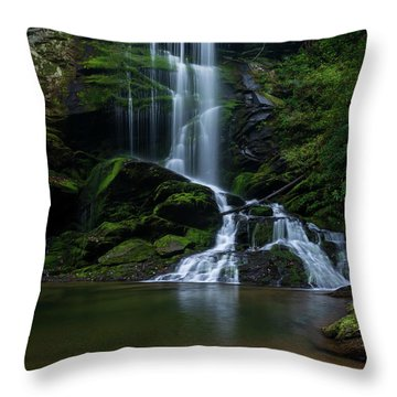 Upper Catawba Falls, North Carolina Throw Pillow