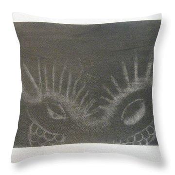 Upper Dragon Face Throw Pillow