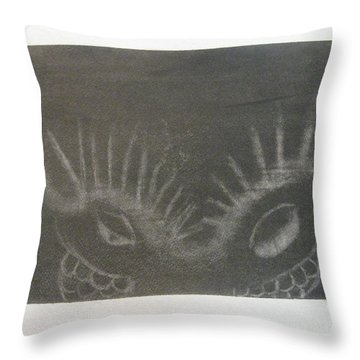 Upper Dragon Face Throw Pillow