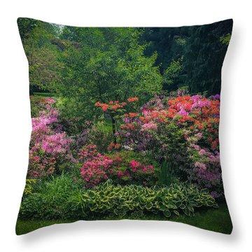 Urban Flower Garden Throw Pillow