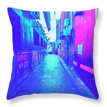 Urban Neon Throw Pillow