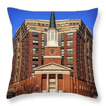 Urban Religion Throw Pillow