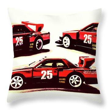 Urban Street Racer Throw Pillow