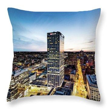 Throw Pillow featuring the photograph Us Bank Tower by Randy Scherkenbach