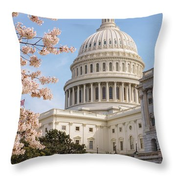Us Capitol Building II Throw Pillow