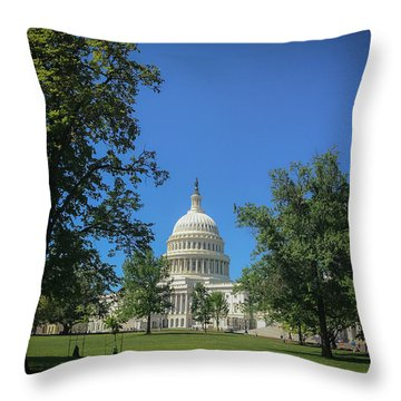Us Capitol Throw Pillow