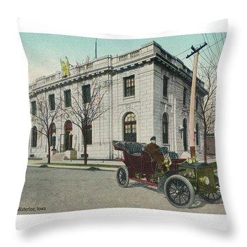 Usps Waterloo Iowa Throw Pillow