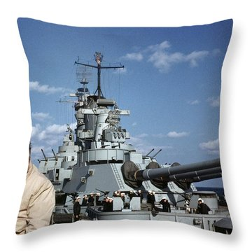 Battle Of The Atlantic Throw Pillows
