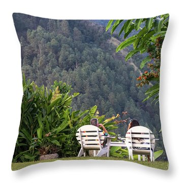 Vacation On Strawberry Hill Throw Pillow