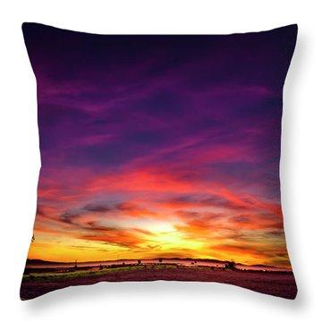 Valentine Sunset Throw Pillow