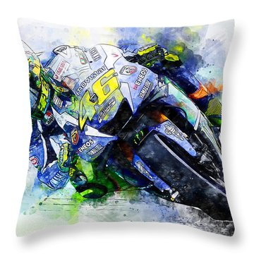 Valentino Rossi - 20 Throw Pillow