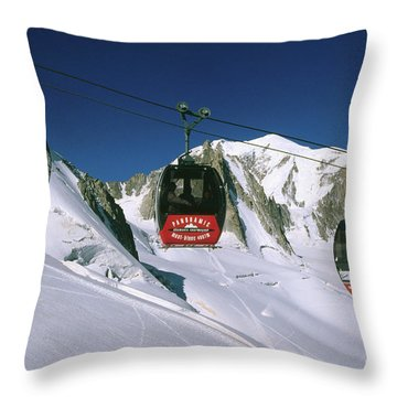 Aerial Tramway Throw Pillows