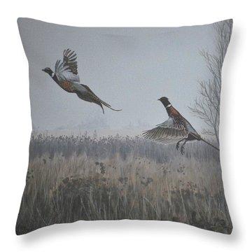 Valley Pheasants Throw Pillow