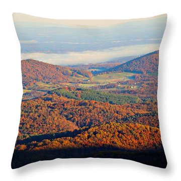 Throw Pillow featuring the photograph Valley View by Candice Trimble