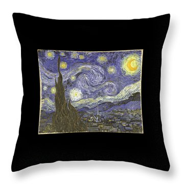 Van Goh Starry Night Throw Pillow